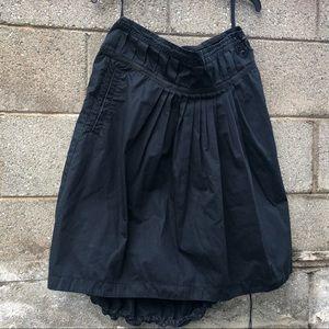 MAHARISHI Designer Black Cargo Draw String Skirt